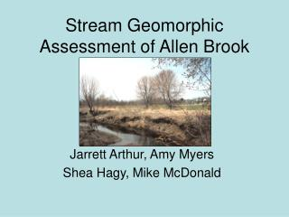 Stream Geomorphic Assessment of Allen Brook