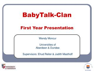 BabyTalk-Clan First Year Presentation