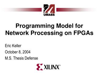 Programming Model for Network Processing on FPGAs
