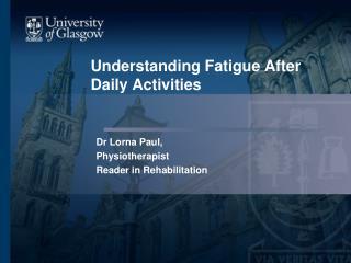 Understanding Fatigue After Daily Activities