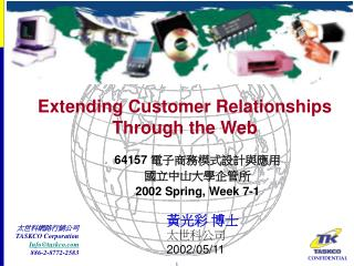 Extending Customer Relationships Through the Web