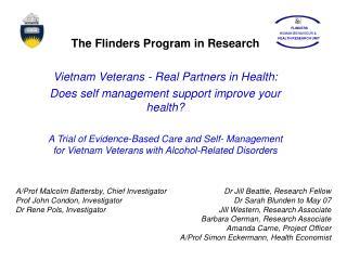 The Flinders Program in Research Vietnam Veterans - Real Partners in Health: