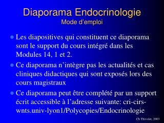 Diaporama Endocrinologie Mode d emploi