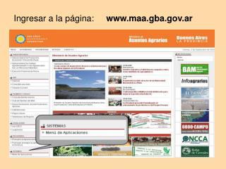 Ingresar a la página:      maa.gba.ar