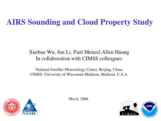 AIRS Sounding and Cloud Property Study