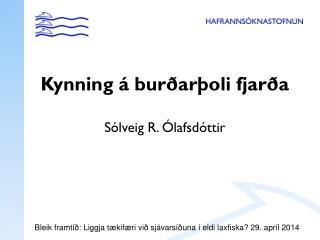 Kynning á burðarþoli fjarða Sólveig R. Ólafsdóttir