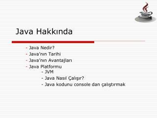 Java Hakkında
