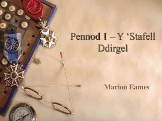 Pennod 1 – Y 'Stafell Ddirgel