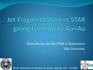 Jet Fragmentation in STAR going from pp to  Au+Au