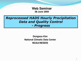 Web Seminar 08 June 2009