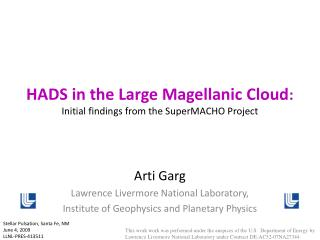 HADS in the Large Magellanic Cloud : Initial findings from the SuperMACHO Project
