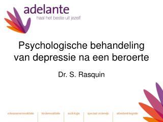 Psychologische behandeling van depressie na een beroerte