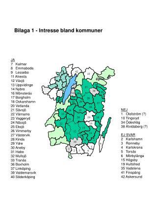 Bilaga 1 - Intresse bland kommuner