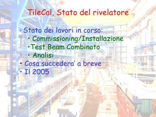 TileCal, Stato del rivelatore