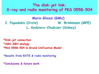 The disk-jet link: X-ray and radio monitoring of PKS 0558-504