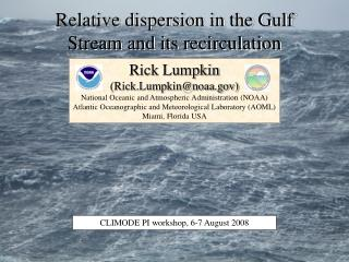 Relative dispersion in the Gulf Stream and its recirculation