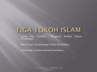 Tiga tokoh islam