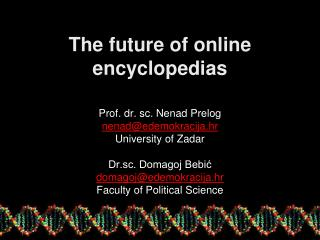 T he future of online encyclopedias