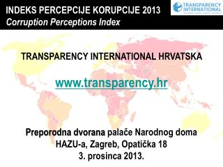INDEKS PERCEPCIJE KORUPCIJE 2013 Corruption Perceptions Index