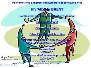 Peer emotional and practical support to people living with  HIV/AIDS in BRENT
