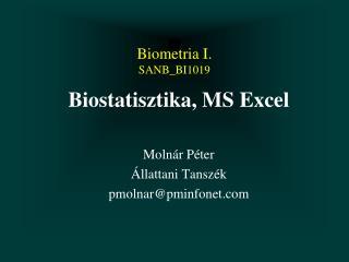Biometria I. SANB_BI1019