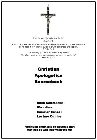 Christian Apologetics Sourcebook