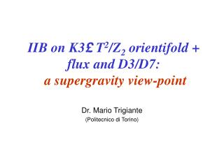 IIB on K3 £  T 2 /Z 2  orientifold + flux and D3/D7: a supergravity view-point