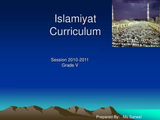 Islamiyat Curriculum