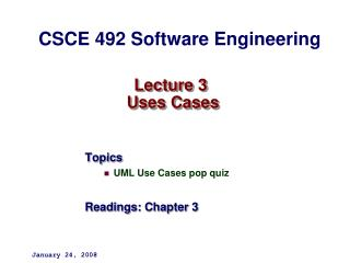 Lecture 3  Uses Cases