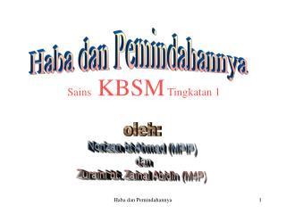 Sains  KBSM Tingkatan 1