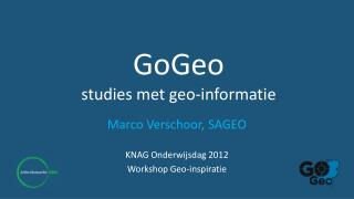 GoGeo studies met geo-informatie