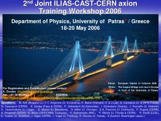 2 nd  Joint  ILIAS–CAST–CERN  Axion  Training