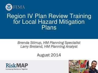 Region IV Plan Review Training  for Local Hazard Mitigation Plans