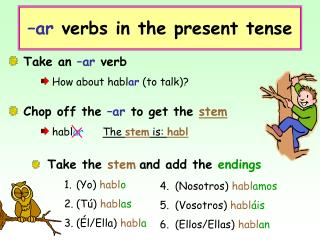 –ar  verbs in the present tense