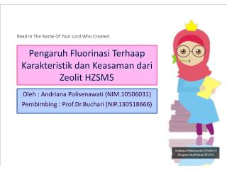 Pengaruh Fluorinasi Terhaap Karakteristik dan Keasaman dari Zeolit  HZSM5
