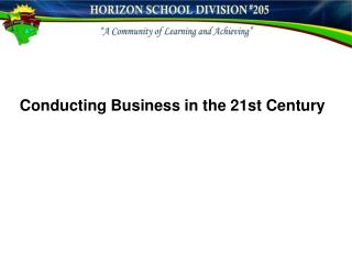 Conducting Business in the 21st Century