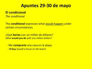 Apuntes 29-30 de mayo