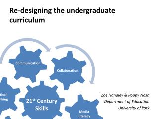 Re-designing the undergraduate curriculum