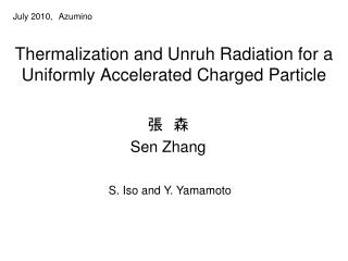 Thermalization and Unruh Radiation for a Uniformly Accelerated Charged Particle