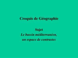 Croquis de Géographie