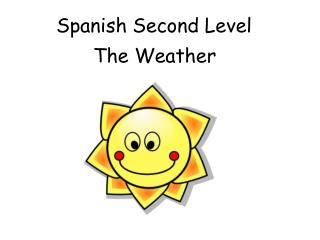 Spanish Second Level