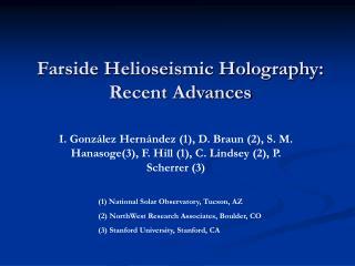 Farside Helioseismic Holography: Recent Advances