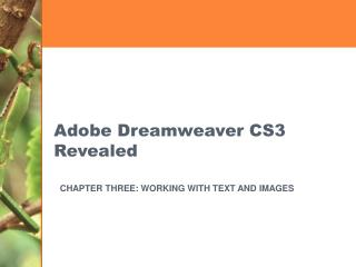 Adobe Dreamweaver CS3 Revealed