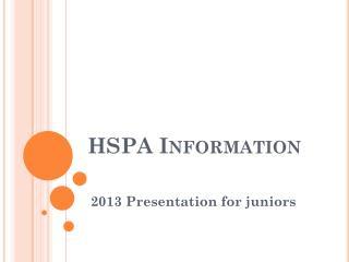 HSPA Information