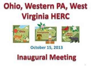 Ohio, Western PA, West Virginia HERC