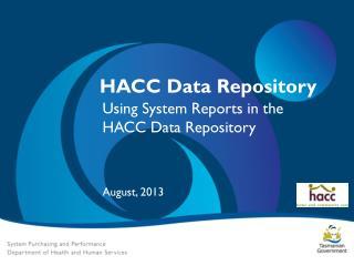 HACC Data Repository