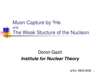 Muon Capture by  3 He  and The Weak Stucture of the Nucleon