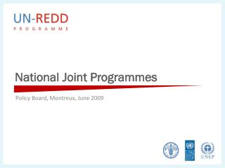 National Joint Programmes