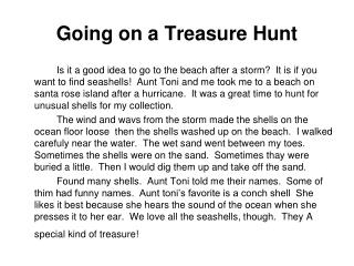 Going on a Treasure Hunt