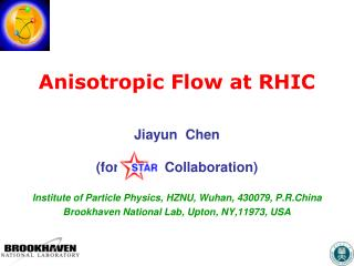 Anisotropic Flow at RHIC